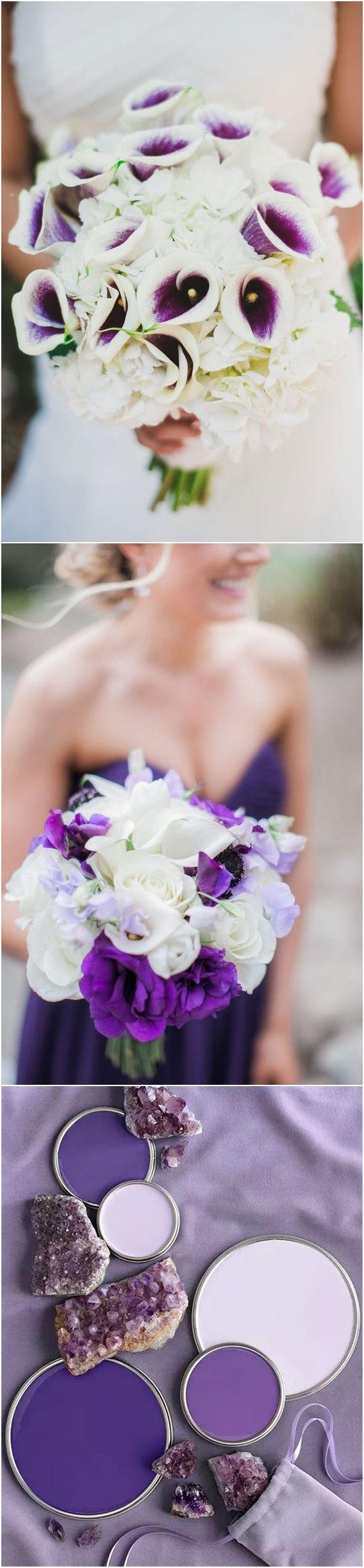 pantone wedding color 2018- Ultra violet ivory wedding color ideas / http://www.deerpearlflowers.com/ultra-violet-wedding-color-palette-idea/