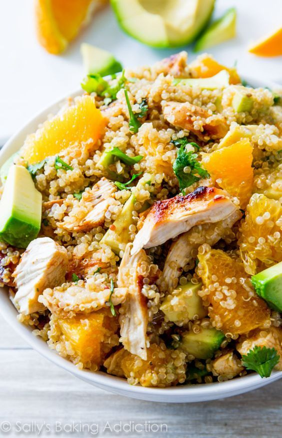 Citrus Chicken Quinoa Salad - Easy, flavorful, healthy, and protein-packed!