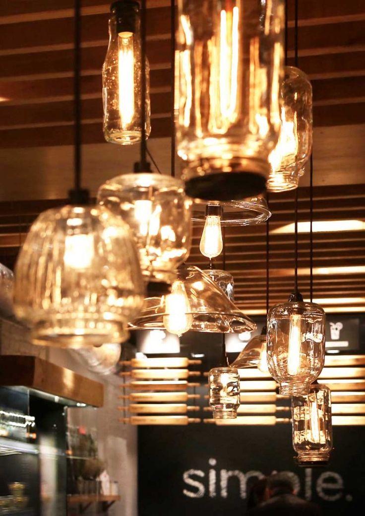 Simple Brandon Anna Domovesova Adomovesova Lighting DIY Fast Food RestaurantRestaurant DesignLighting