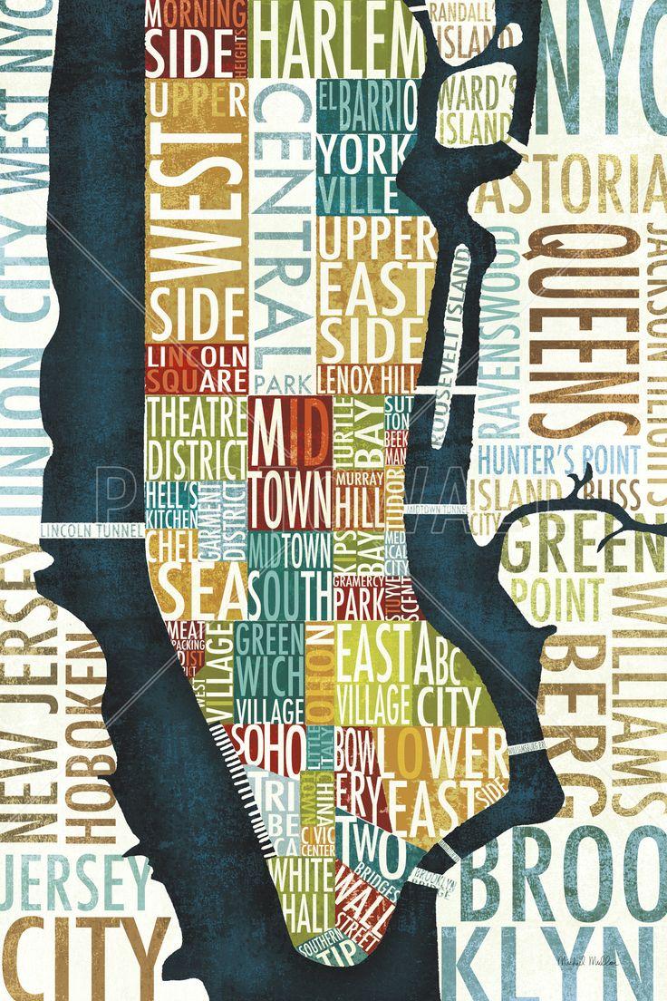 Manhattan Map - Mural de pared y papel tapiz fotográfico - Photowall