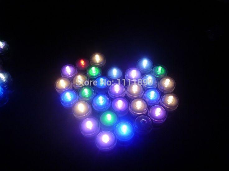 960 шт./лот Погружные СВЕТОДИОДНЫЕ свечи чайные свечи, работающий от батареи огни водонепроницаемый плавающие свечи на день рождения Рождество свадьба