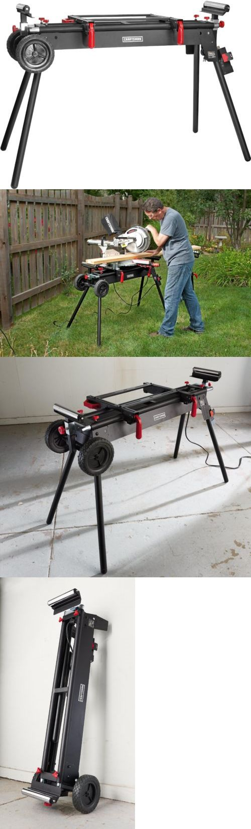 Miter and Chop Saws 20787: Craftsman Portable Deluxe Adjustable Garage Mechanic Wood Miter Saw Stand Bench -> BUY IT NOW ONLY: $127.53 on eBay!