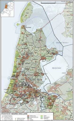 Topografie - Noord Holland