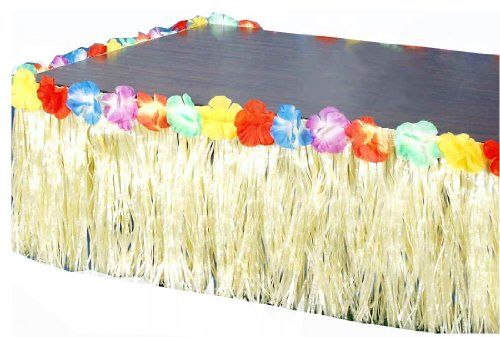 Forum Novelties Hawaiian Luau Party Grass Skirt Table Fringe Forum Novelties Inc.,http://www.amazon.com/dp/B00CHJQTQG/ref=cm_sw_r_pi_dp_ysvctb1NMRQWT9D9