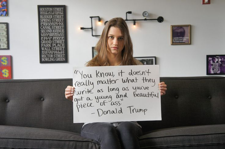 Women Hold Up Signs With Donald Trump's Most Sexist Quotes