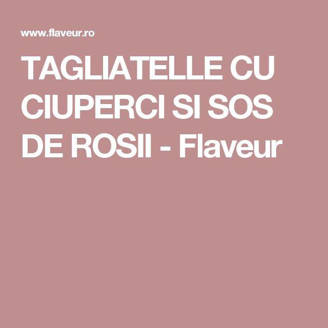 TAGLIATELLE CU CIUPERCI SI SOS DE ROSII - Flaveur