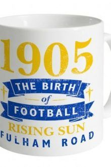 Chelsea Birth of Football Mug 220x330 The perfect gifts for Chelsea Fans