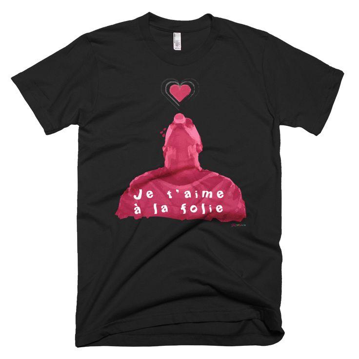 Je t'aime à la folie Valentine's Day Unisex slim fit T-Shirt