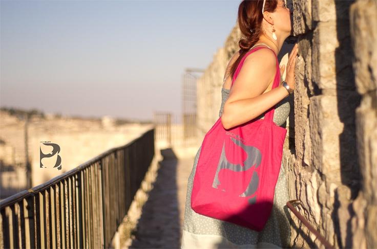 Bachblatt-Bag in Jerusalem! http://www.bachblatt.de/Frauen/Accessoires/Bachblatt-Tragetasche.html