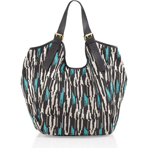 Cynthia Vincent Berkeley Printed Canvas Tote ($132) found on Polyvore