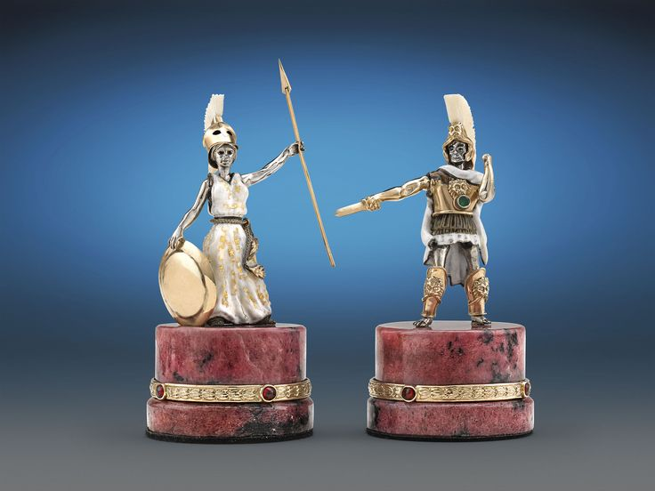 Battle of Issus Chess Set - the Greeks vs the Persian Army.  King Alexander the Great for the Greeks and the Greek goddess of war and wisdom Athena taking over the Queen piece.