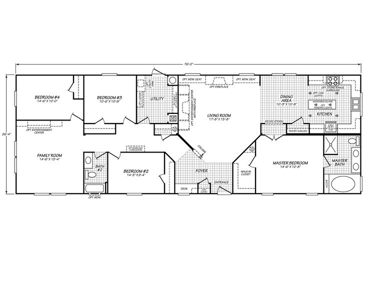 Eagle Trace Ii 28764n Fleetwood Homes Spaces Floor