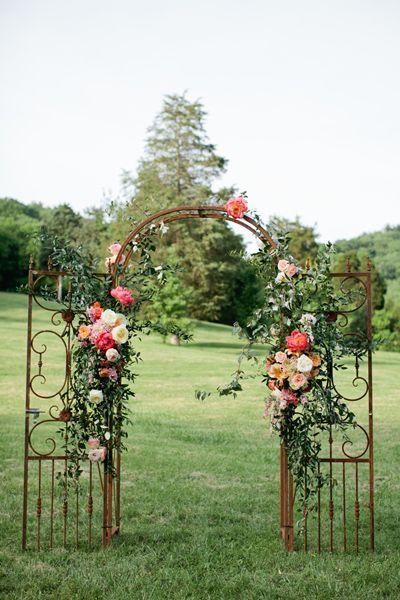 beautiful floral arch   Kristyn Hogan #wedding