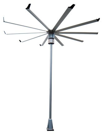 fan pole. big ass fans - isis-on-a-stick outdoor fan in aircraft-grade aluminum with powdercoated steel pole and mounting structure by a\u2026 u