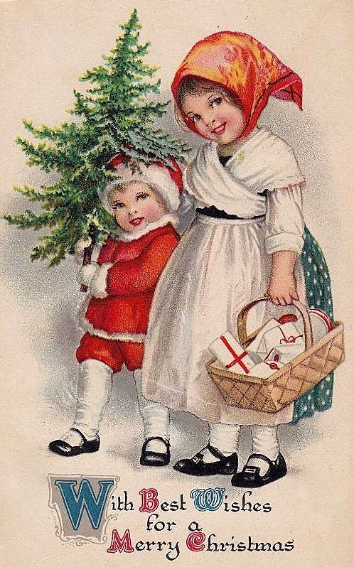 vintage christmas welcome card | So glad you found Bumble button. Love to each and everyone of you ...