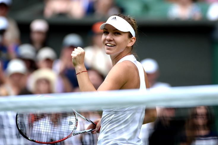 Simona Halep after her victory on Centre Court - Tom Lovelock/AELTC