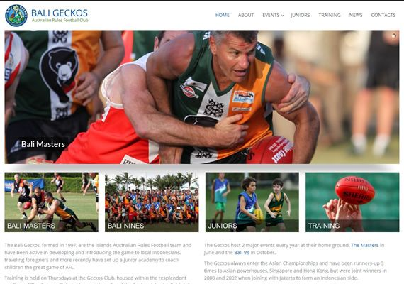 Bali's very own Australian Rules football team, The Bali Geckos by Slinky Web Design. View more here > http://www.baligeckos.com