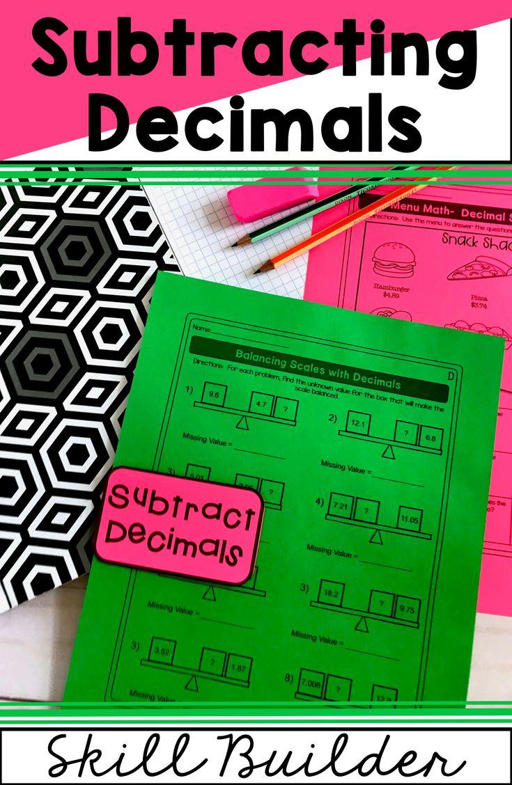 Subtracting Decimals Worksheets Subtracting Decimals Worksheet Math Word Problems Subtracting Decimals [ 1128 x 735 Pixel ]