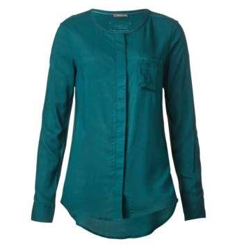 saphire blouse | ... Blouses Blouses met lange mouwen Blouses met ronde hals Lange blouse