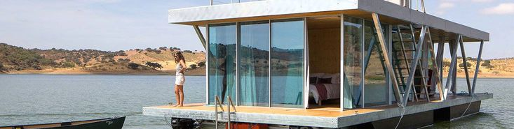An off-grid adventure awaits daring couples on the Floatwing, a floating romantic getaway for two. The Portuguese design firm Friday developed the beautiful self-sufficient home, which was created with a focus on energy efficiency and environmentally friendly materials. The eco-conscious Floatwing boasts a small environmental footprint and can produce up to 100 percent of its annual energy needs over six months.