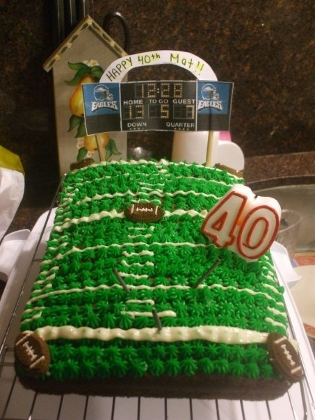 40th Birthday Cake For A Football Fan B Day Party Ideas