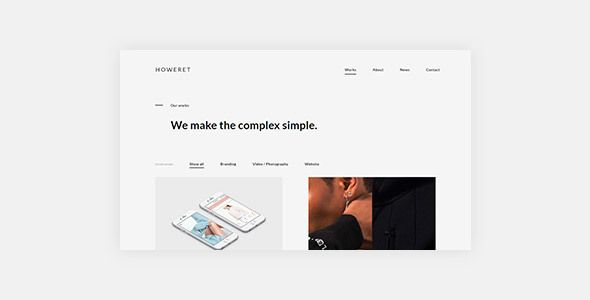 Howeret - Ajax-Based Portfolio Template | Best Premium HTML Themes