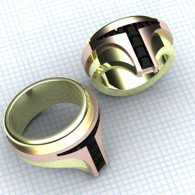 geeky wedding nerdy cool rings blushingblonde