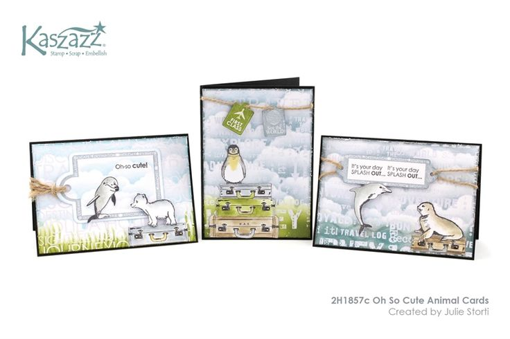 2H1857c Oh So Cute Animal Cards