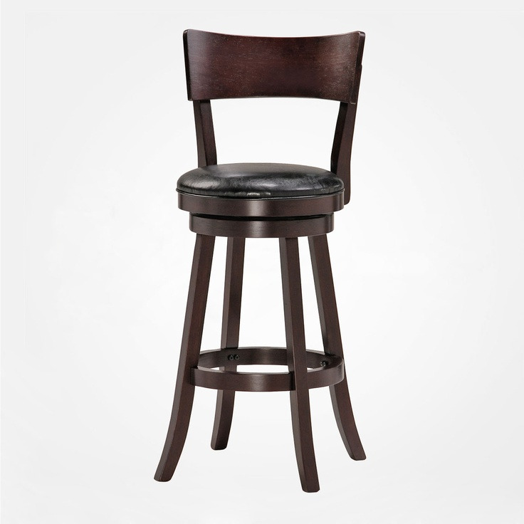 Bar Amp Counter Stools Isaac 24 Quot Wood Swivel Stool