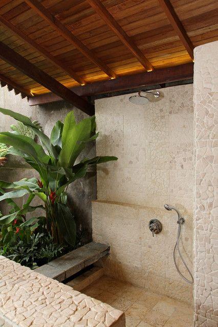 Semi outdoor bathroom - tropical - bathroom - other metro - Iwan Sastrawiguna Interior Design