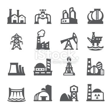 Industrial Building Vector Icons