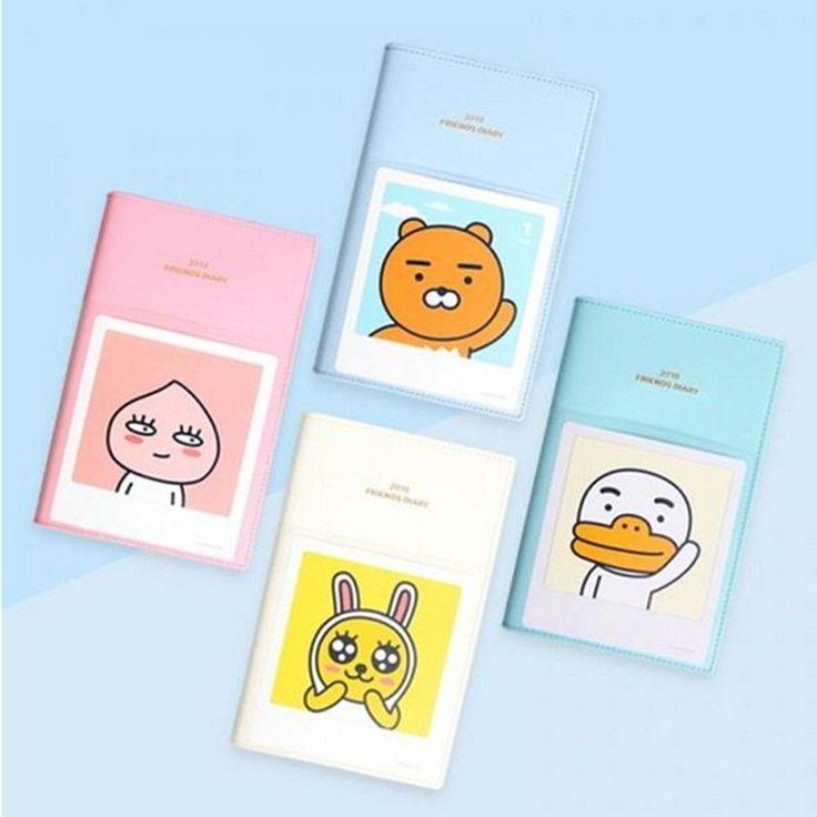 Kakao Friends Official Goods 2018 New Year Pocket Diary Ryan Apeach Muzi Tube  #KakaoFriends