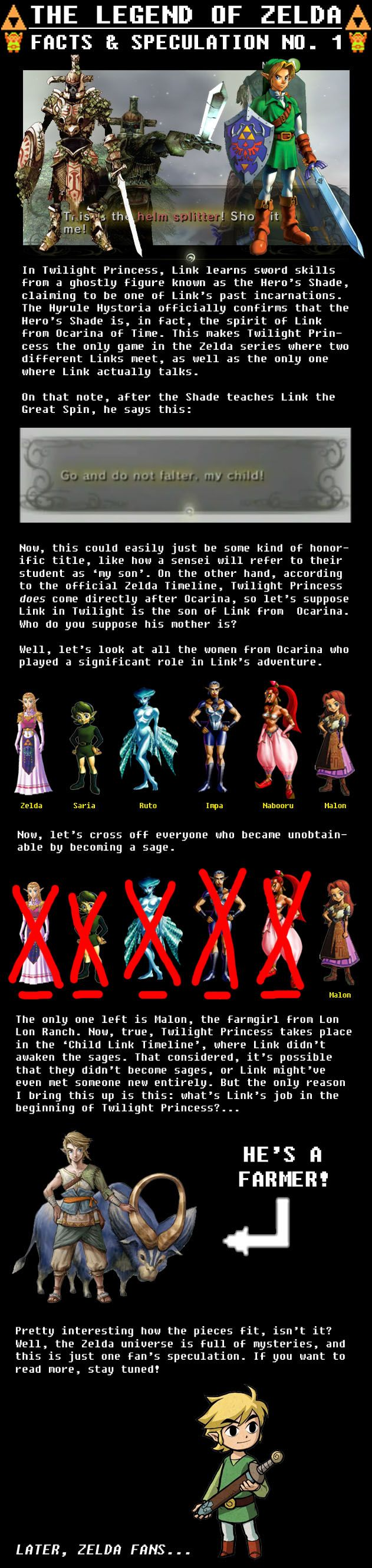 I've kinda always assumed, for some reason, that OoT Link ended up with Malon.