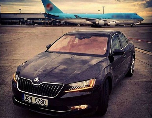 a skoda superb model from azerbaijan