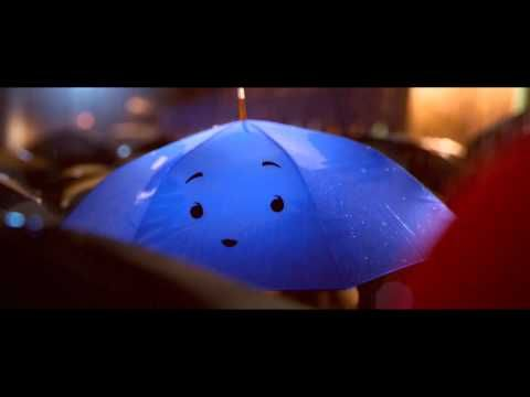 """Pixar's newest short film, """"The Blue Umbrella,"""" is due out in June. Amidst the rain in a singing city, two umbrellas - one blue, one not - fall eternally in love. Courtesy Pixar Animation Studios.  -- I'm unnaturally excited about seeing the whole thing"""