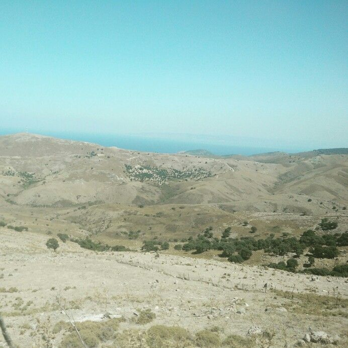 The desert of east Lesvos, near the Petrified Forest (Lesvos, Greece)