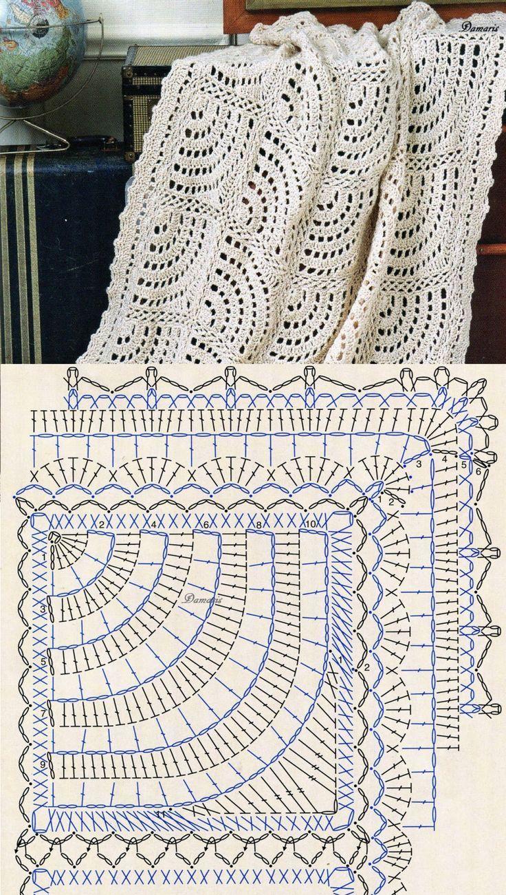 Beautiful crochet blanket: