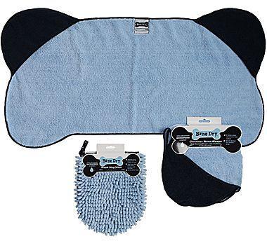 Bone-Shaped Pet Towel and Wash Mop Mitt
