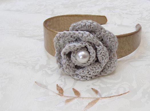 diy: Headbands Flower, Crafts Idea, Crochet Flower Patterns, Rosette Headbands, Crochet Patterns, Simple Crochet, Crochet Rosette, Crochet Headbands, Crochet Flower Headbands