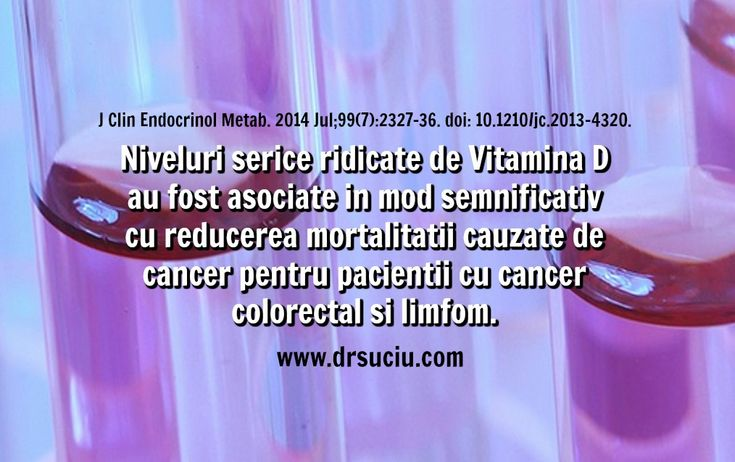 Photo Mai multa vitamina D, mai mica mortalitatea cauzata de cancer - drsuciu