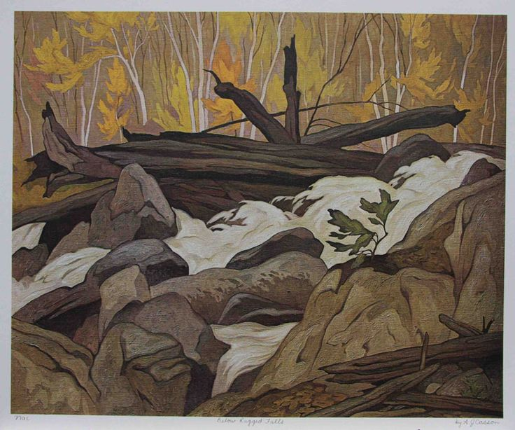 A.J. Casson -Group of Seven-Below Ragged Falls
