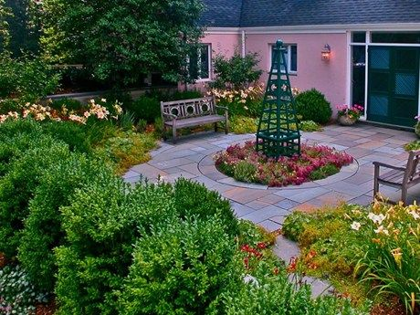 18 best images about colonial landscape design on pinterest - Classic courtyards and gardens elegant landscapes ...