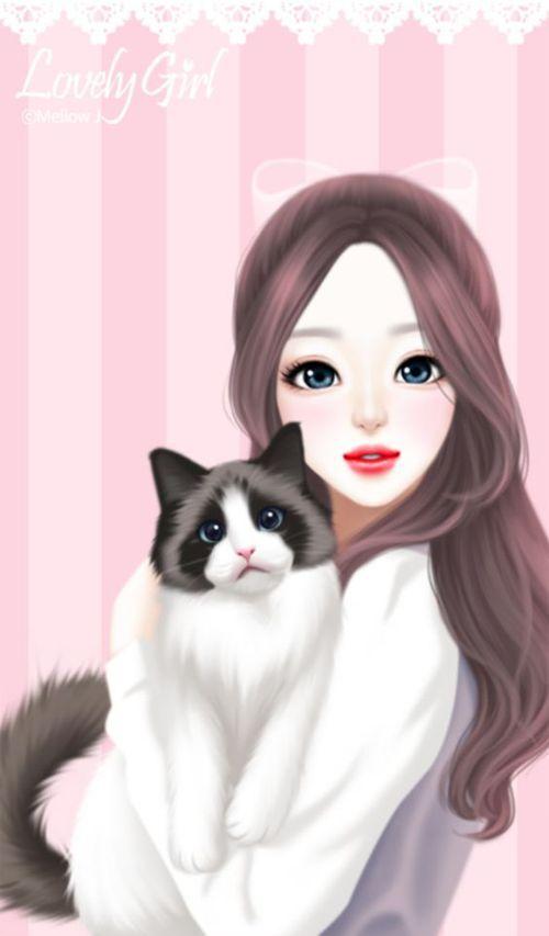 129 best Cute korean cartoon girls images on Pinterest ...