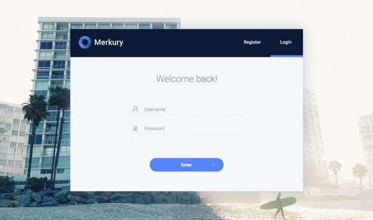 Merkury Dashboard PSD Template
