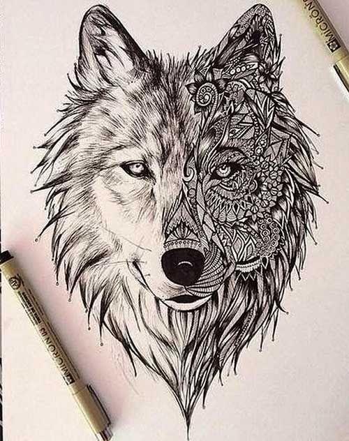 34cfea810ab586fe1687bbb15d227dda wolf tattoo design tattoo designs