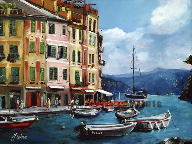 """Portofino View from La Piezetta"" Limited Edition by Judith Dalozzo"