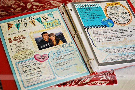 For couples…a way to remember your year together. Do one every year for a scrapbook of your marriage.