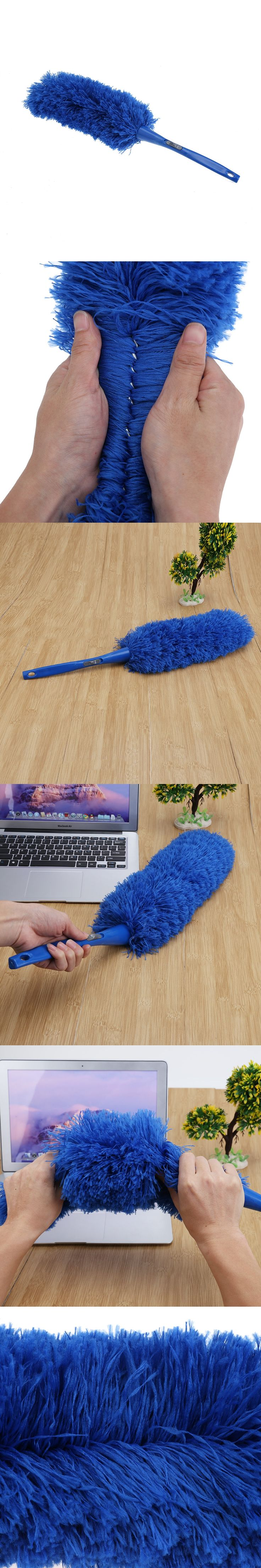 Soft Microfiber Cleaning Duster Dust Cleaner Handle Feather Static Anti Magic Household Cleaning Tools