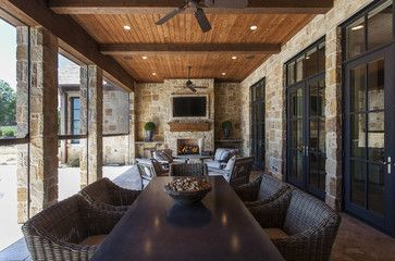 One Mile Home Style: Monday Eye Candy 11.10.14 - Beautiful outdoor living area with a fireplace