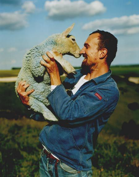Tim Walker and a blue lamb